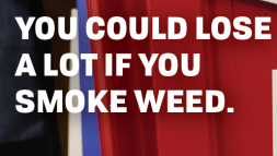 Horizontal poster with text you could lose a lot if you smoke week.