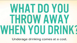 What do you throw away when you drink underage