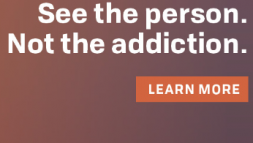 Thumbnail Banner Ad 300x60 See the Person Not the Addiction, guy hug